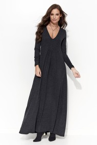 Tumši pelēka kleita