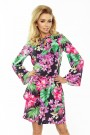 179-2 VIOLA Dress with two flounces - colorful flowers