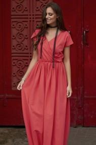 Koraļļu krāsas kleita