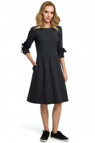 Tumši pelēka, stilīga kleita