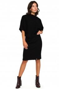 Melna kleita ar kabatām sānos