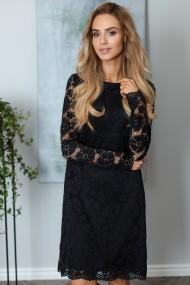 Melna mežģīņu kleita