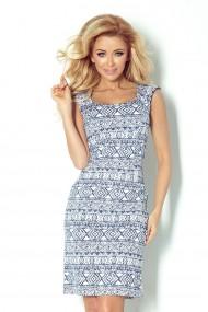 Balta kleita ar zilu kleitu