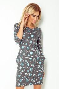 Jola - dress with pockets - flowers 40-9
