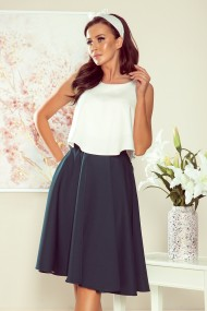 266-1 Midi skirt with pockets - green