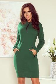 260-2 ELSA Green dress with a hood