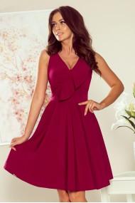 274-1 ANITA Frill dress - burgundy