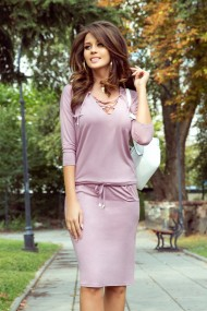 230-5 JANET Sports dress with binding - powder pink