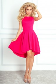 Koši rozā, asimetriska garuma kleita