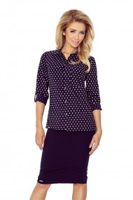 Shirt with pockets - navy blue + stars MM 018-4