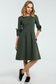 Tumši zaļa, stilīga kleita