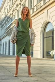Tumši zaļa, klasiska stila kleita