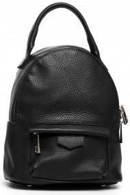 Melna ādas soma-mugursoma