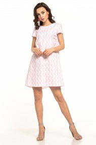 Balta, pūkaina kleita
