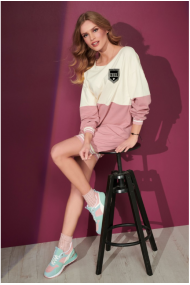 Rozā-krējuma krāsas kleita