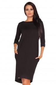 Melna, pievilcīga kleita