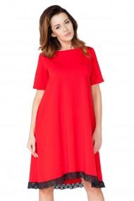 Sarkana kleita ar mežģīņu maliņu