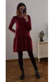 Bordo krāsas kleita