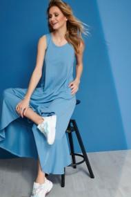 Gaiši zila, gara kleita