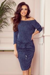 13-77 Sporty dress with pockets- navy blue jeans