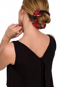 Melna, puķaina matu gumija