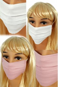 CV04 Reusable protective masks - 2 layers cotton - 2 white + 2 light pink