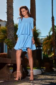 Gaiši zils komplekts-kleita