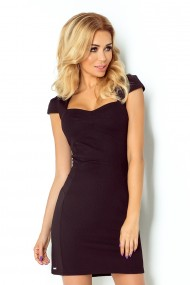Dress with sleeves - black 118-5