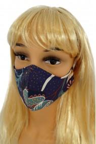 CV06 Reusable decorative masks - navy blue - 100% cotton - 2 pieces
