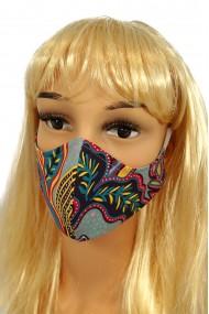 CV08 Reusable decorative masks - turquoise - 100% cotton - 2 pieces