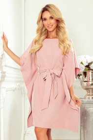 287-11 SOFIA Butterfly dress - dirty pink