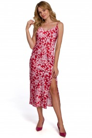Rozā, pūkaina kleita