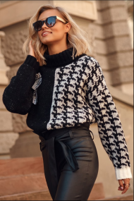 Balts-melns džemperis