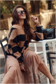Brūns-melns džemperis