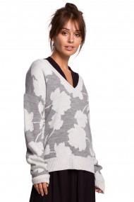 Balts-pelēkas džemperis