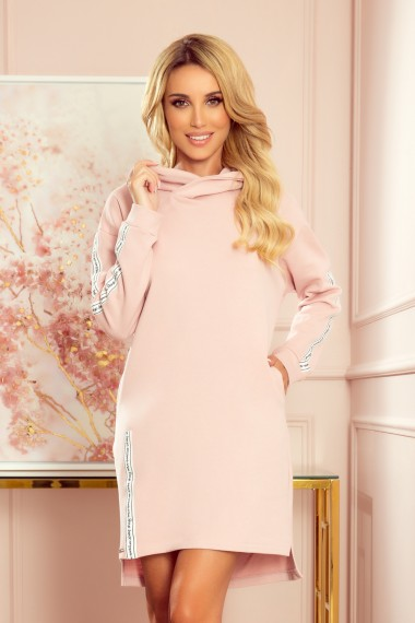 322-2 Hoodie with pockets - dirty pink