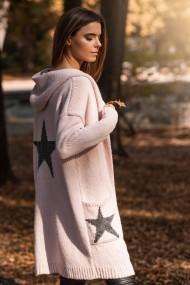 Melns-gaiši rozā džemperis