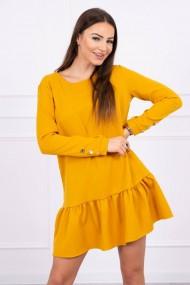 Tumši dzeltena kleita