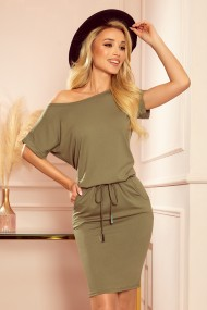 139-8 Sports dress with short sleeves - olive colour