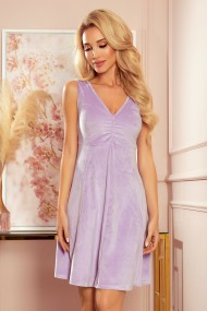 238-3 BETTY flared dress - heather color