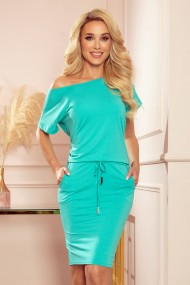 56-7 Sports dress with short sleeves - turquoise