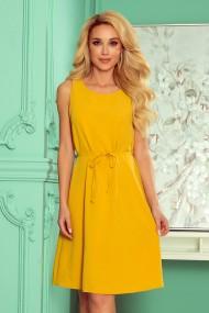 296-5 VICTORIA Trapezoidal dress - honey color