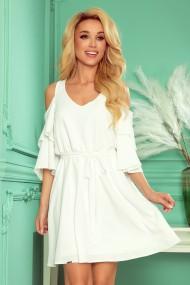 292-4 MARINA flimsy dress with a neckline - ecru