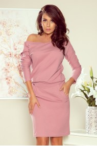 189-10 Sports dress with neckline at the back - dark dirty pink