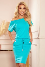 56-8 Sports dress with short sleeves - blue