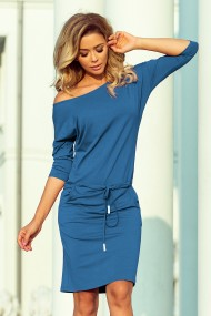 13-133 Sports dress with binding and pockets - Viscose jeans