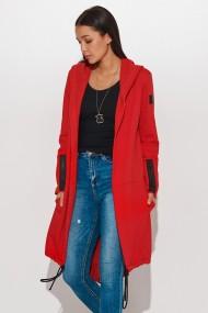 Gaiši pelēka, asimetriska garuma jaka
