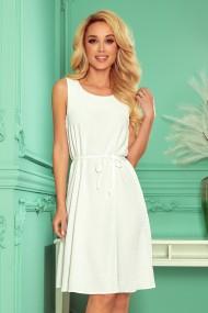 296-4 VICTORIA Trapezoidal dress - ECRU