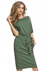 Tumši zaļa, kimono stila kleita