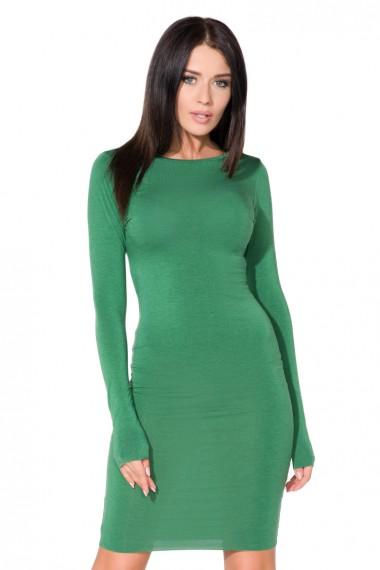 Zaļa, pieguļoša kleita